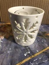 Yankee Candle Christmas Festive Winter Flurries Arrow Snowflake Votive Holders