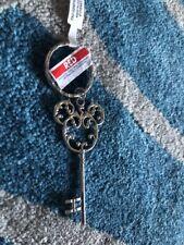 Disney Parks  Mickey Mouse Icon Silver Filigree Key Metal Keychain