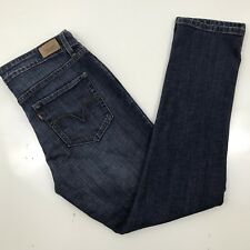 Levis Women's Mid Rise Skinny Stretch Dark Wash Jeans 12 Lightly Distressed