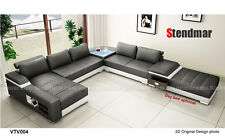Modern Euro style leather sectional sofa set S1004