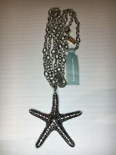 BARONI DESIGNS Textured 925 Sterling Silver Stirling Starfish Pendant & Necklace