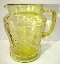 Federal Glass Amber  Depression Madrid Pattern Pitcher 8 Inch 72 oz