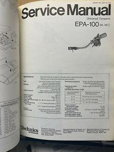 Original Service Manual for the Technics EPA-100 Tonearm SL-1000MK2 Supplement