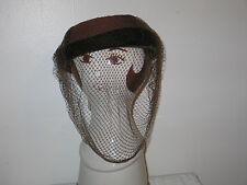 SASSY Vtg 1940-50s Clover Lane Womens Brown Wool~Velvet Netting~Hat Cap