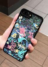 NEW iPhone 7 Disney Ariel The Little Mermaid Glitter Sand Black Hard Phone Case