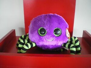 Ty Beanie Boos CRAWLY purple spider 6 inch NWMT. Retired.