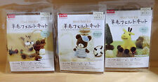 Daiso Japan needle felting animal kit 3 set Wool Japan Squirrel Bear Giraffe