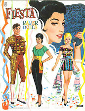 Vintage 1965 Fiesta Paper Doll ~Saalfeild~Pretty Laser Reproduction~Org Sz Uncut