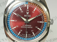 Vintage Nino Mens Analog Dial Mechanical Handwinding Movement Wrist Watch OG53