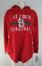 St. Louis Cardinals MLB Majestic Women's Plus Size Full-Zip Sweatshirt