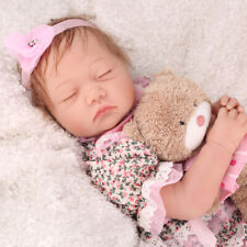 REBORN DOLL REALISTIC SILICONE VINYL NEWBORN DOLLS SURPRISED BABY GIRL XMAS GIFT