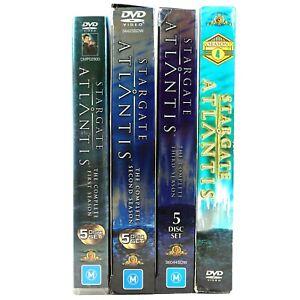 Stargate Atlantis Complete Season 1 2 3 4 DVD Bundle R4 + R1 TV Series Drama
