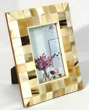 MVM 4x6 Natural Horn Picture Frame in Light Creamy Tones and Browns