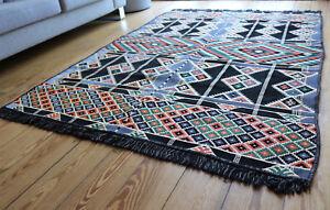 135x 200 cm Orientalischer Teppich, Kelim ,Carpet,Rug,neu, Damaskunst S 1-4-29