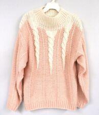 Vtg 1980s Chaus 3PC Ski Outfit Pink Kei Nylon Puffer Jacket Sweater M Pants 4