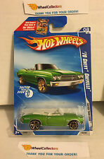 '70 Chevy Chevelle #136 * GREEN w/ FTE Rims * 2010 Hot Wheels * G2