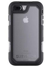 GENUINE IPHONE 8 PLUS & 7 PLUS GRIFFIN SURVIVOR SUMMIT CASE COVER | BLACK/CLEAR