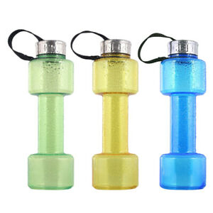 750ml Dumbbell Water Bottle Jug Travel Fitness Exercise Water Filled Weights