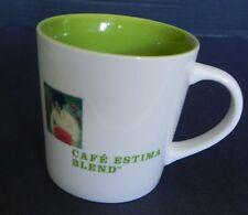 Starbucks 2005 Coffee Mug Cafe Estima Multi Region Blend 16 Oz White Lime Green