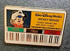 New listing Disney Exclusive Cast Member Id Badge Cruise line captain Mickey Mouse Le 3500