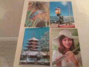 Four Lenticular 3D Postcards.