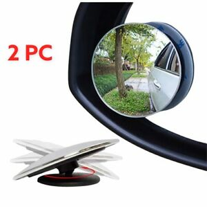 2 pcs Blind Spot Mirror 360°Wide Angle Convex Rear Side View Car Auto Universal