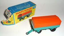 Lesney Matchbox Series Regular Wheels #2 Mercedes Trailer Anhänger mint boxed!
