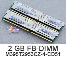 2x 1gb = 2gb di RAM memory memoria FBDIMM per server IBM System x5630 40k6434 s54