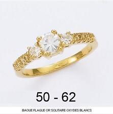 Dolly-Bijoux Alliance Solitaire T58 Diamant Cz 5mm Plaqué Or 18K 5 Microns