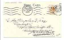 Orange River Colony Philatelic Postcard 1934, Johannesburg, South Africa, SC 44