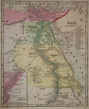 1856 Genuine 00003E85  Antique map of Egypt & Nubia. by C. Morse