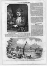 1849 Bridge Across Thames Barnes Smallbery Green Portrait Woollett Engraver