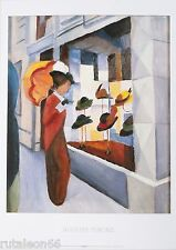 "Litografía offset AUGUST MACKE ""Hutladen"" 50x70cm. Migneco-Smith 33349"