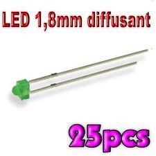 366/25# LED 1,8 mm vert diffusant 25pcs