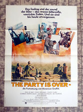 THE PARTY OIS OVER... * A1FILMPOSTER German 1-Sheet ´80 More American Graffiti