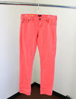 NWT J Crew Matchstick Slim Neon Coral Dyed Jeans Size 29 Straight and Narrow