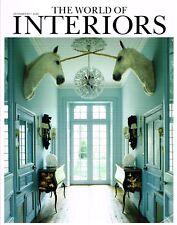 THE WORLD OF INTERIORS 12/2011 LES TROIS GARCONS William Kent PETER SHIRE @Ex