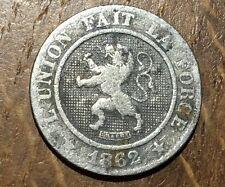 PIECE DE 10 CENTIMES 1862 LÉOPOLD PREMIER BELGIQUE (94)