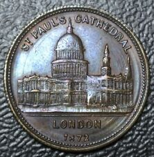 1872 ST. PAUL'S CATHEDRAL LONDON ENGLAND MEDAL - Albert Edward Prince of Wales
