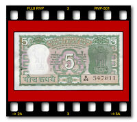 RESERVE BANK OF INDIA 5 RUPEES P-55 UNC SIGN. 78 S. Jagannathan 1970