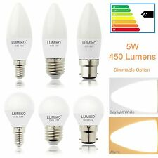 LED CANDLE /GOLFBALL Light bulbs 5W E14 ES E27 BC B22 Dimmable option WHITE/WARM