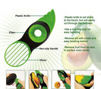Cook Art Top 3 in 1 Avocado Slicer Cutter Tool Peeler Scoop Slices Green Knife