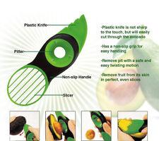 Cook Art Top 3 in 1 Avocado Cutter Tool Slicer Peeler Scoop Slices Green Knife