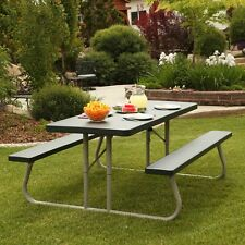 Lifetime Products 6 ft. Folding Green Picnic Table, Hunter Green