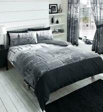 New York City (NYC) Grey/Black Duvet Covers Quilt Covers Bedding Sets All Sizes