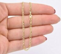 """2.5mm Miami Curb Cuban Chain Bracelet Real 10K ALL Yellow Gold 7"""""""