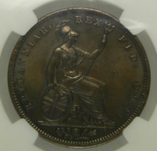 More details for 1826 aunc george iv copper penny coin ngc ms62