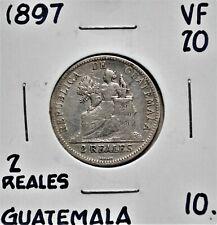 1897 Guatemala 2 Reales VF-20