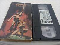 Conan The Barbarian VHS 1985 RARE Cult (2hr 8min) Arnold Schwarzenegger