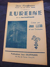 Partition Lureine Jean Kauffmann Jean Lledo Music Sheet